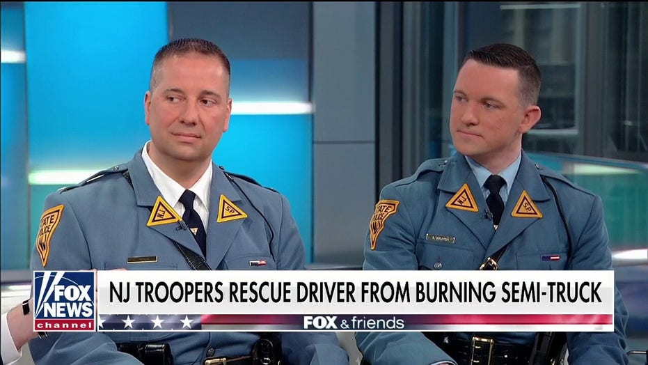 NJ troopers save driver seconds before explosion