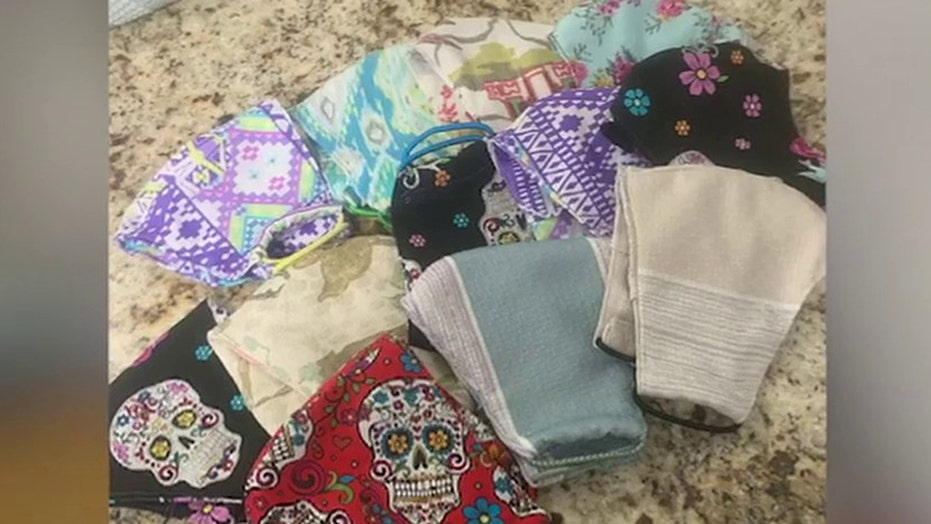 Bride-to-be spends wedding day sewing masks for community