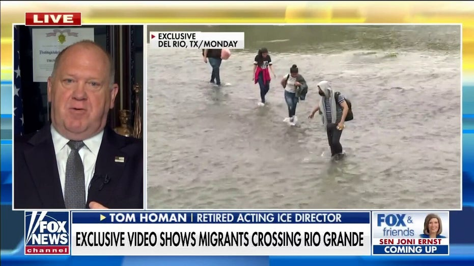Homan on Fox News video of migrant crossings: This is Biden's 'open borders' agenda in action