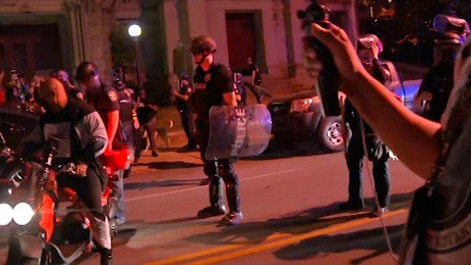 Driver plows into LA-area crowd where Trump, BLM protesters gathered; 2 hurt