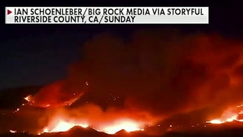 Massive wildfire burns out of control in Riverside County, Calif.