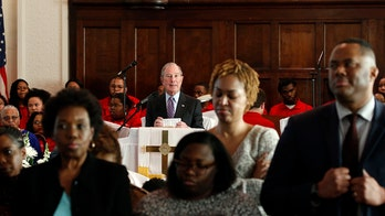 Churchgoers in Selma turn backs to Bloomberg, silent protest