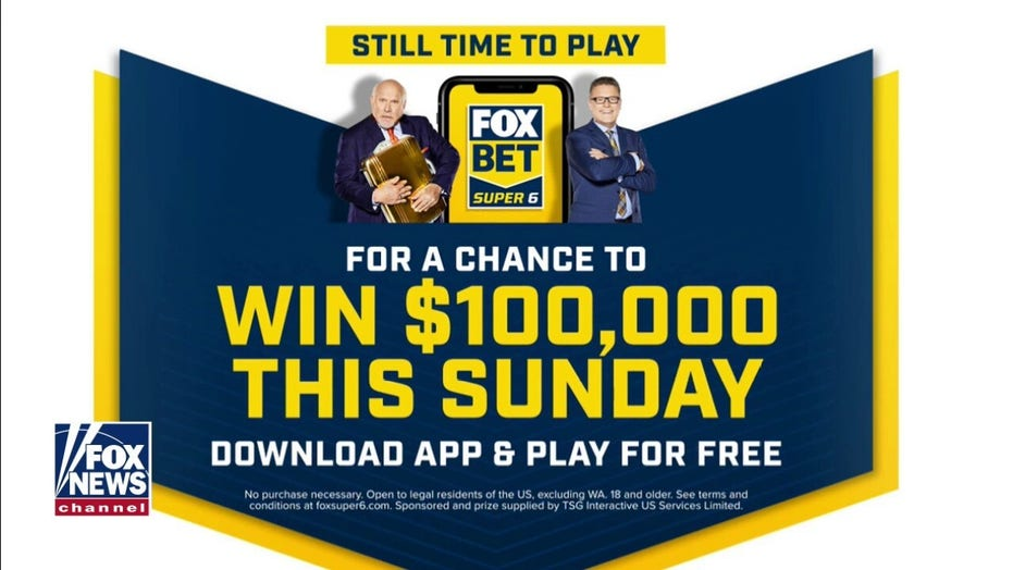 FOX NFL Sunday viewers can win $100K with FOX Bet Super 6
