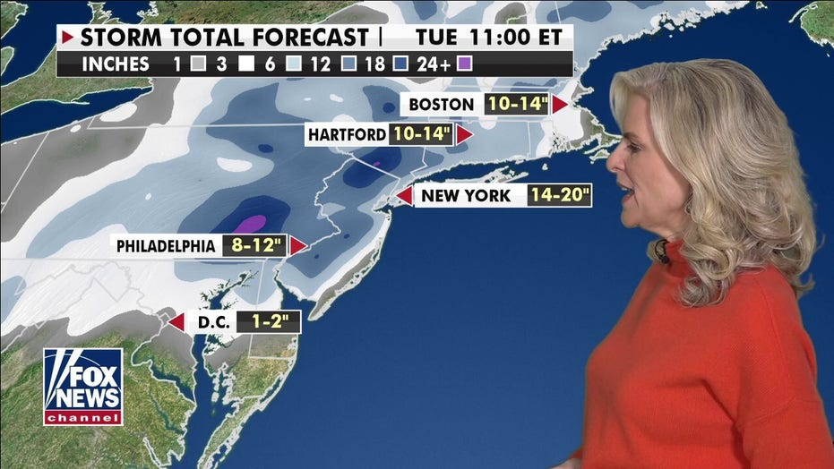 Winter storm bringing heavy snow, strong winds to Northeast