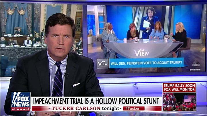 Tucker Carlson mocks 'The View' for contentious interview with Dershowitz