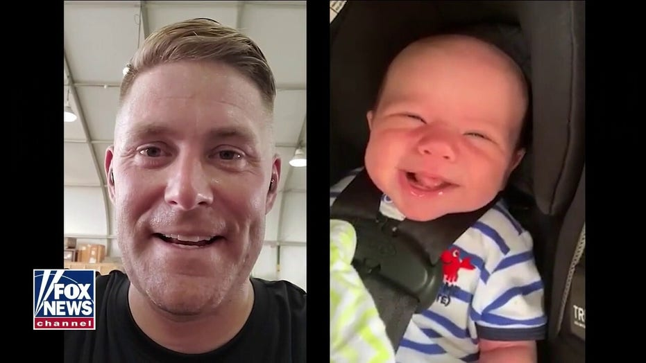 Deployed dad surprises family in heartwarming reunion, meets son for first time at Patriot Awards