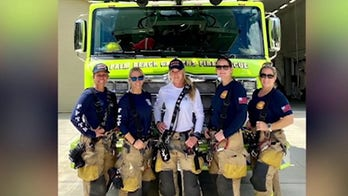 Crew of all-female firefighters makes history in Palm Beach Gardens, Florida