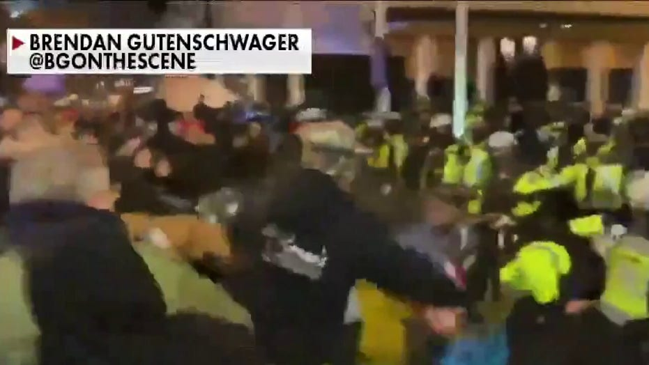 Pro-Trump protesters clash with police in Washington, DC