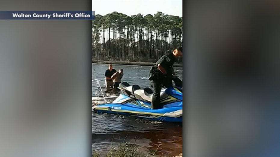 Florida deputy uses Jet Ski in pursuit to arrest a wanted fugitive