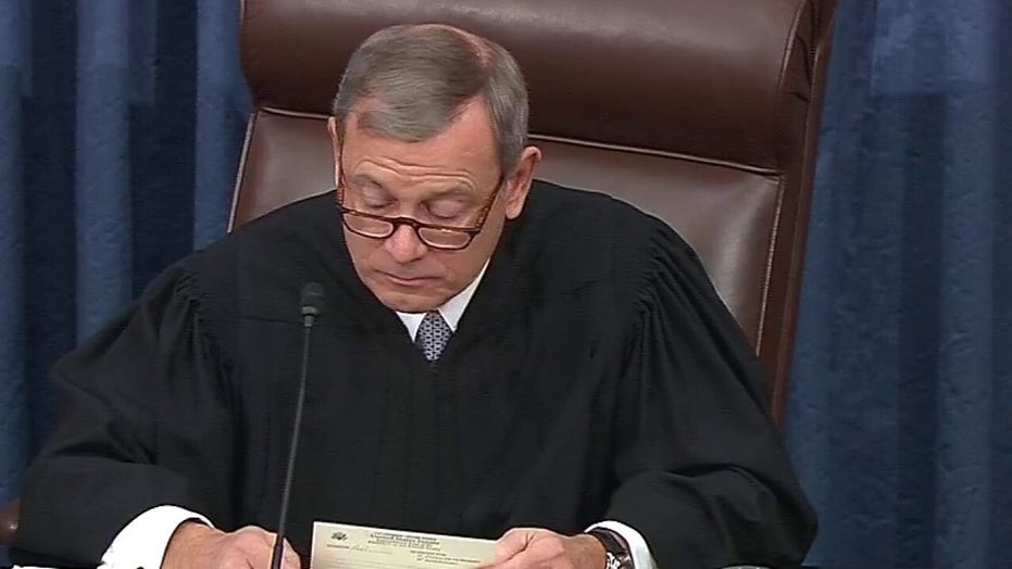 Chief Justice John Roberts declines to read impeachment question from Sen. Rand Paul