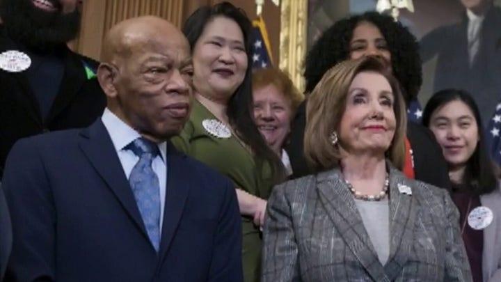 House Speaker Nancy Pelosi praises Rep. John Lewis as 'a titan of the civil rights movement'