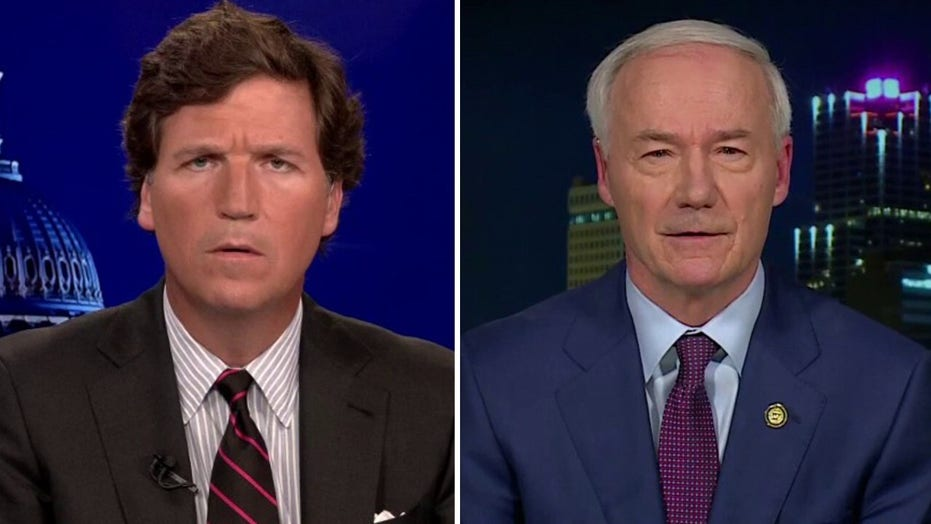Tucker presses Arkansas gov over veto of bill banning gender hormones, surgeries for transgender youth