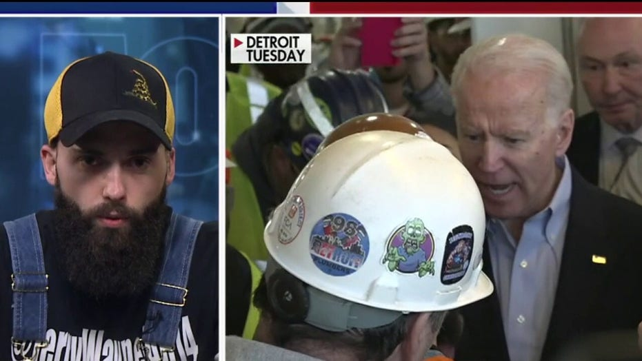'Fox & Friends': Michigan autoworker who Joe Biden snapped at over guns speaks out