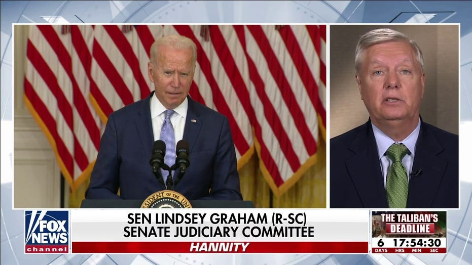 Lindsey Graham on 'Hannity': Biden 'signed death warrant' for thousands of Afghans who helped us