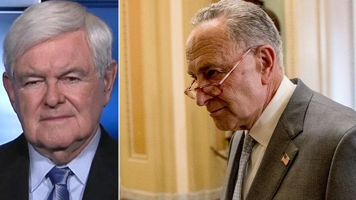 Gingrich on Schumer's Supreme Court threat, 'weak vs. weaker' battle for Democrat nomination