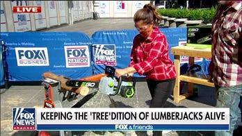 Skip Bedell brings lumberjacking to Fox Square