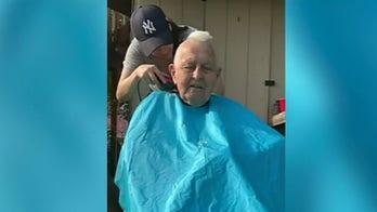 Maryland WWII veteran, 96, gets mohawk haircut for coronavirus challenge