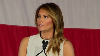 First lady Melania Trump condemns riots, urges 'everyone to protest in peace'