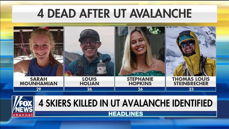 Authorities identify four skiers killed in Utah avalanche
