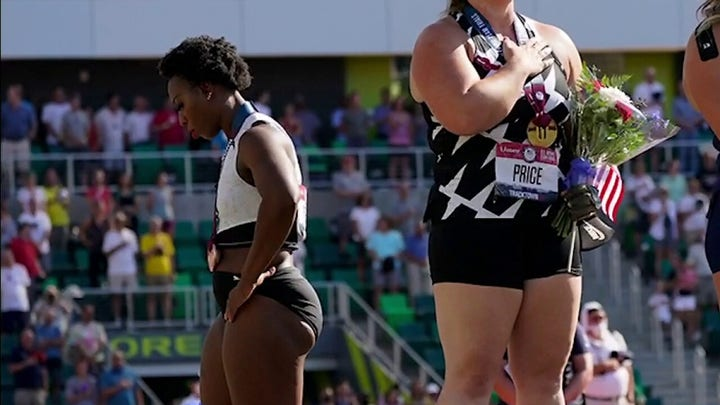 US Olympian turns back on flag, says national anthem doesn't speak for her as 'activist athlete'
