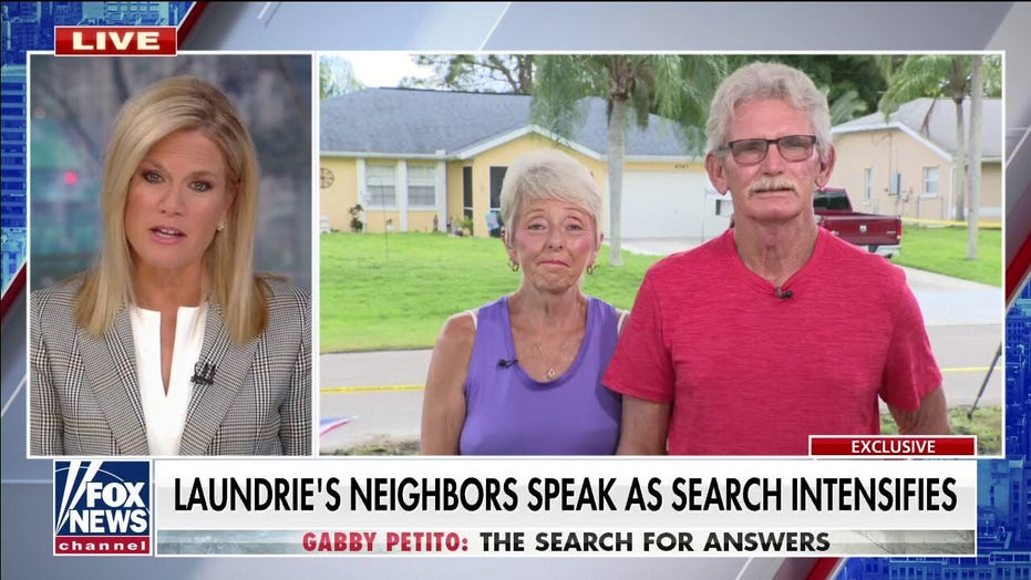 Laundrie's Florida neighbors say family appeared to go 'camping' after boyfriend returned from Wyoming