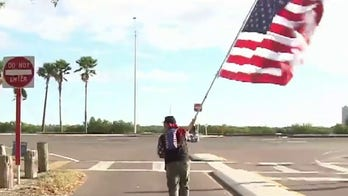 Florida man runs with US flag to honor first responders on COVID-19 frontlines
