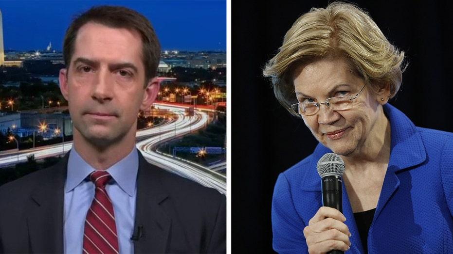 Sen. Cotton reacts to Elizabeth Warren's pandemic plan