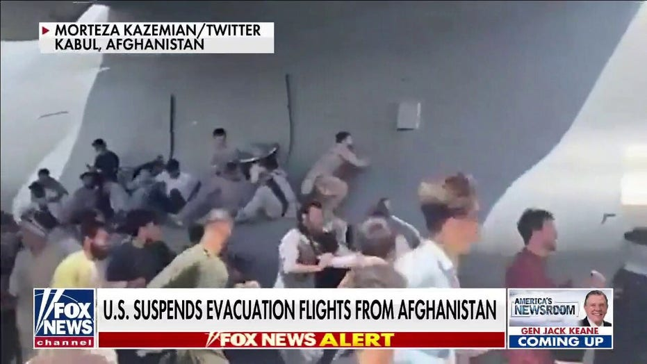 US Embassy flag flown out of Afghanistan amid chaotic evacuation from Kabul airport