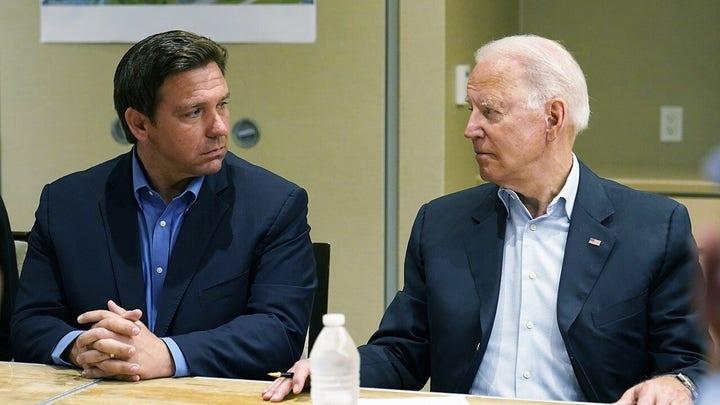 Press plays up Biden vs. DeSantis