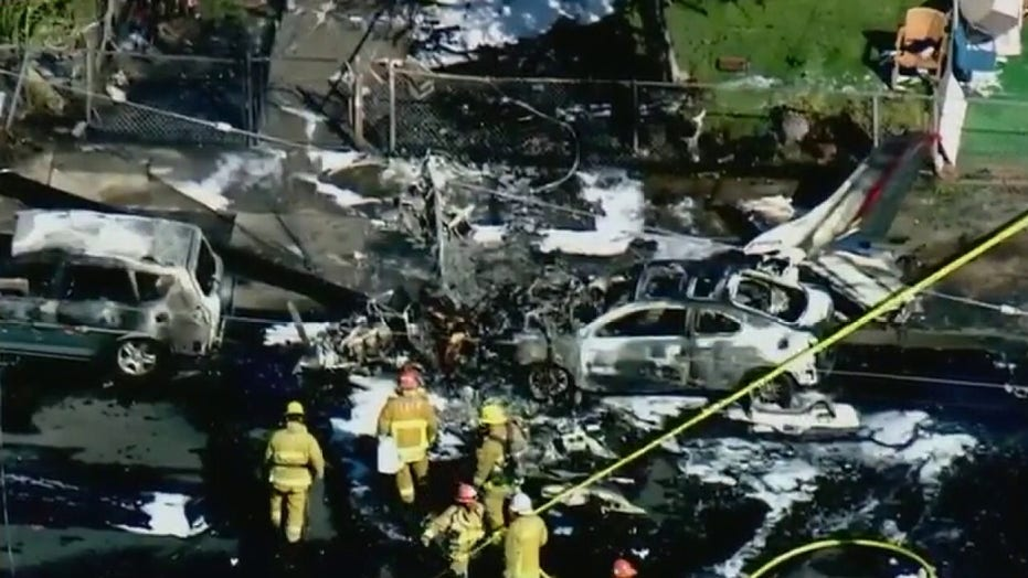 Small plane crashes into Los Angeles neighborhood