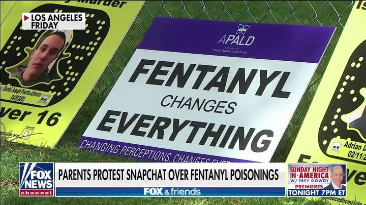 Parents protest Snapchat over Fentanyl poisonings