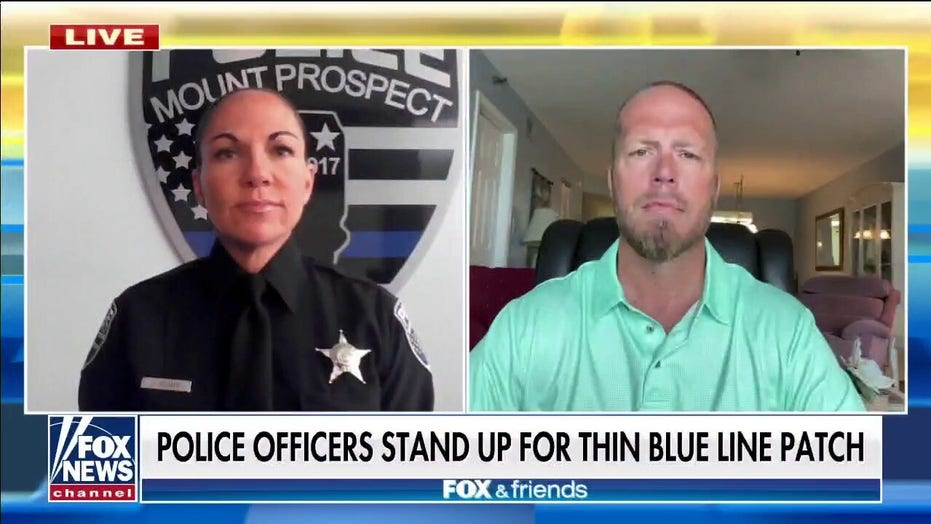 Illinois officers push back after local residents claim thin blue line is 'divisive'