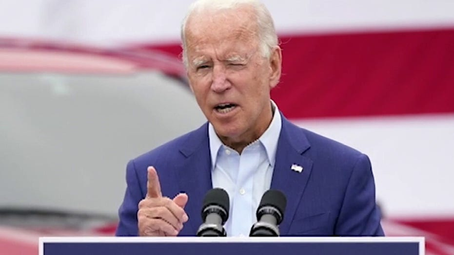 Biden argues he's in better shape than Trump: 'Just look at us'