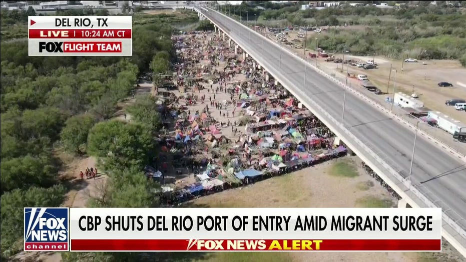 Texas Rep. Pfluger visits Del Rio migrant camp as numbers spike, warns 'worst is yet to come'