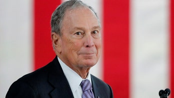Bloomberg joins debate stage for first time in Nevada