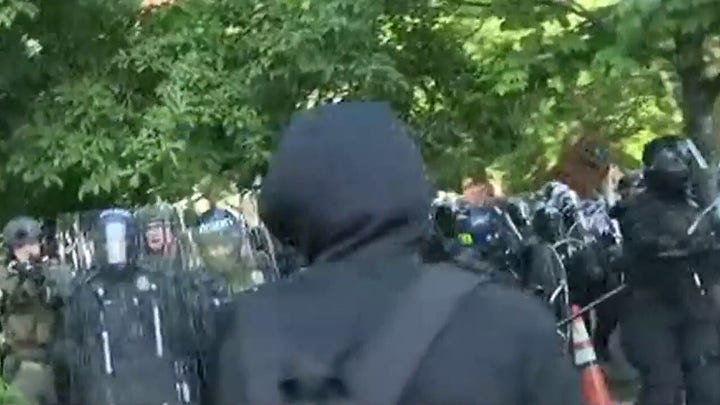 Authorities in Washington, DC move to clear crowd of protesters from near White House ahead of curfew