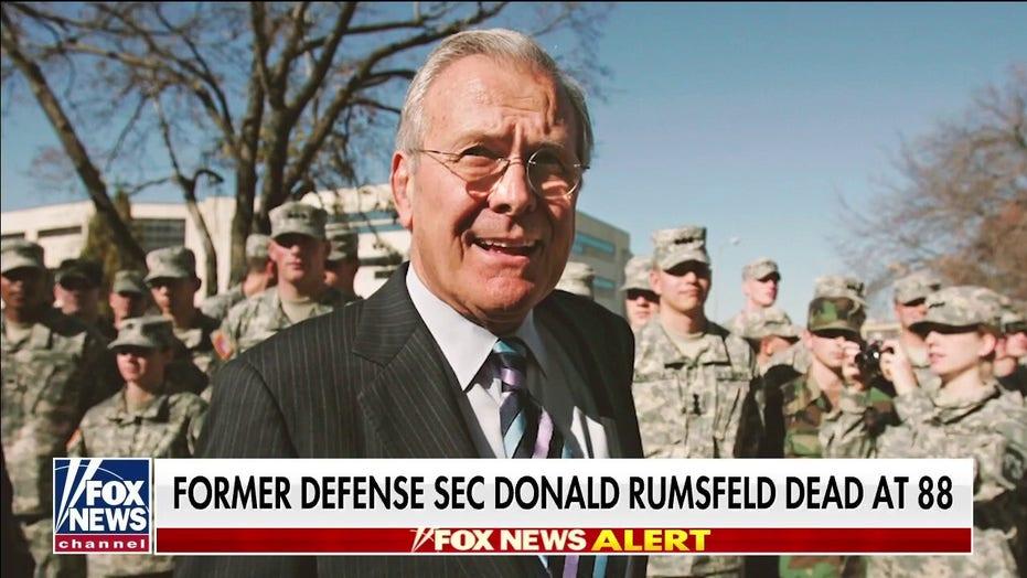 Former Defense Secretary Donald Rumsfeld dead at 88