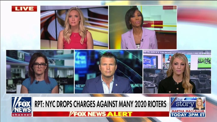 'Outnumbered' slams anti-police policies and charges being dropped against rioters