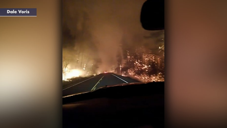 Oregon man flees wildfire down flaming highway as 'unprecedented' deadly fires scorch state