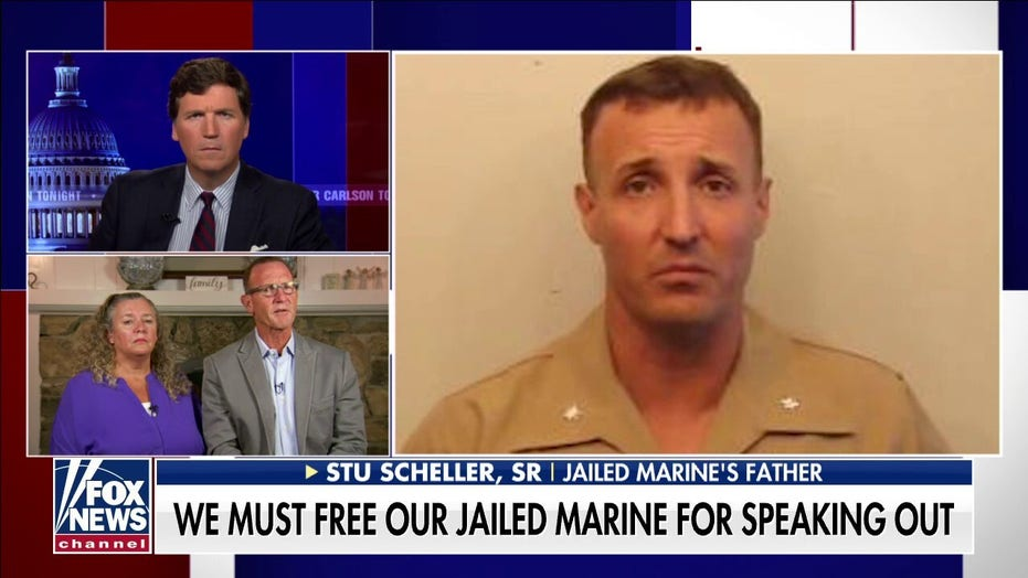 Mom of jailed marine Stuart Scheller: 'They're trying to bury our son'