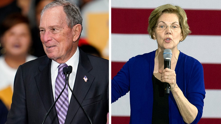 Warren tries to paint Bloomberg as a racist as Super Tuesday approaches