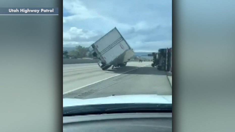 Hurricane-force winds in Utah flip 45 semitrucks, kill 1 person as thousands remain without power