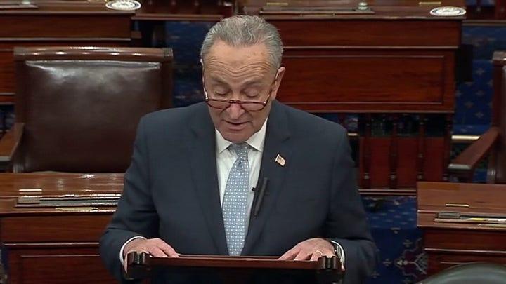Senate Minority Leader Chuck Schumer speaks on Biden's projected win