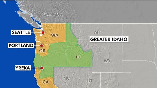 Group of rural Oregon conservatives looks to redraw state border and join Idaho