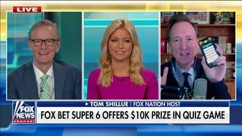 Tom Shillue announces this week's FOX Bet Super 6 Quiz Show questions