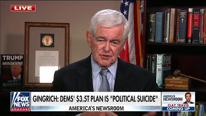 Gingrich: Economy will be worse than Jimmy Carter's if Dems pass $3.5T spending plan