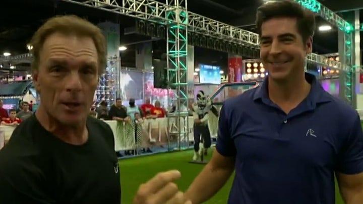Doug Flutie puts Jesse Watters' football skills to the test