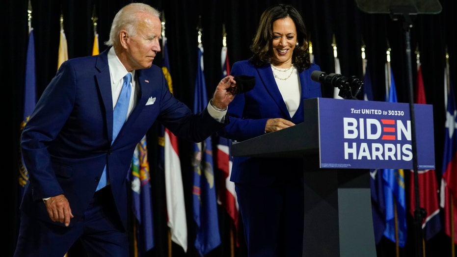 Joe Biden, Kamala Harris make first joint appearance as Democratic presidential ticket