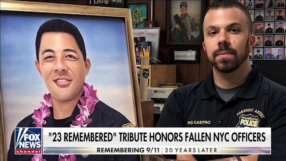 Army vet talks about his 9/11 tribute to fallen NYC police