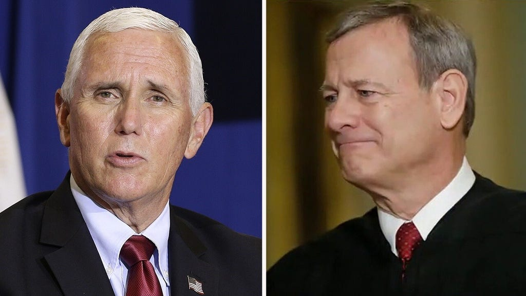 Ex-Supreme Court clerk backs Pence's harsh criticism of Chief Justice Roberts